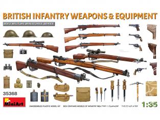 Mini Art maquette militaire 35368 ARMES ET ÉQUIPEMENT D'INFANTERIE BRITANNIQUE WWII 1/35