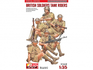 Mini Art maquette militaire 35299 Soldats Britanniques assis sur un char ÉDITION SPÉCIALE 1/35