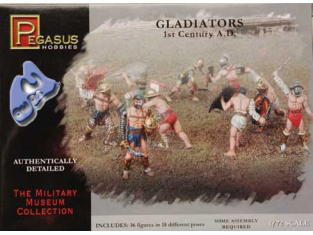 Pegasus maquette figurines 7100 GLADIATEURS 1/72