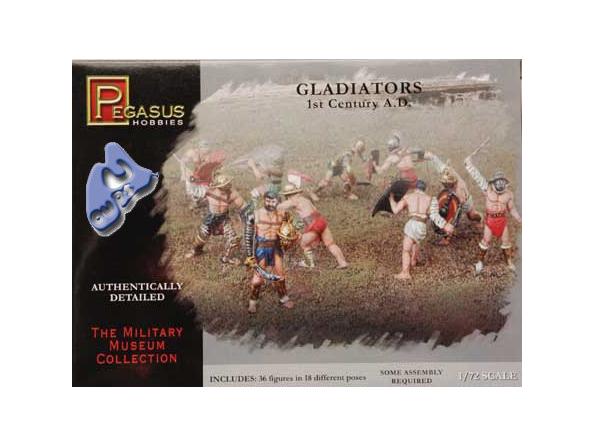 Pegasus maquette figurines 7100 GLADIATEURS 1/72