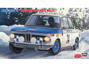 Hasegawa maquette voiture 20332 BMW 2002 ti «1969 Monte Carlo Rally» 1/24