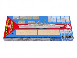 I Love Kit d'amelioration maquette 66601 Kit super-détaillage Bismarck Trumpeter 1/350