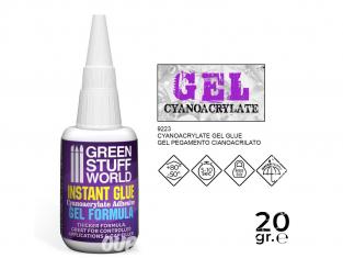 Green Stuff 9223 Colle Cyanoacrylate formule GEL avec Pointes de Précision