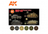 Ak interactive peinture acrylique 3G Set AK11656 COULEURS PANZER 1937-44 6 x 17ml