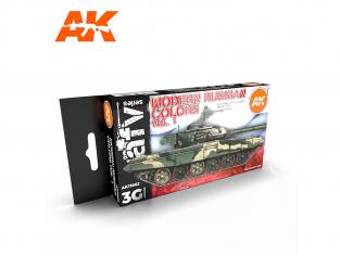 Ak interactive peinture acrylique 3G Set AK11662 COULEURS RUSSE MODERNE VOL 1 6 x 17ml
