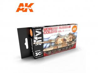 Ak interactive peinture acrylique 3G Set AK11663 COULEURS RUSSE MODERNE VOL 2 6 x 17ml