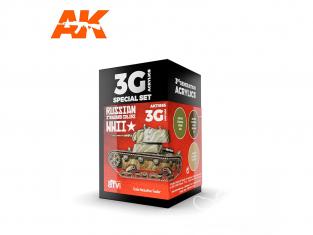 Ak interactive peinture acrylique 3G Set AK11665 COULEURS STANDARD RUSSE DE LA SECONDE GUERRE MONDIALE 3 x 17ml