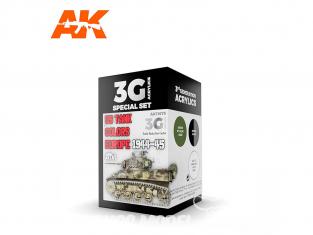 Ak interactive peinture acrylique 3G Set AK11675 US TANK COLOURS EUROPE 1944-45 3 x 17ml