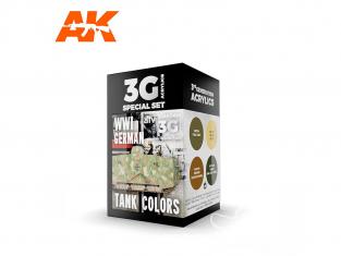 Ak interactive peinture acrylique 3G Set AK11686 COULEURS DE CHARS ALLEMAND DE LA PREMIÈRE GUERRE MONDIALE 4 x 17ml