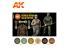 Ak interactive peinture acrylique 3G Set AK11681 MOTIF ITALIEN UNIFORME ALLEMAND 6 x 17ml