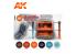 Ak interactive peinture acrylique 3G Set AK11685 INTÉRIEURS DE VÉHICULE ROUGE ET BLEU 6 x 17ml