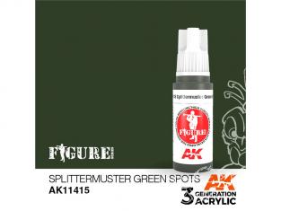 Ak interactive peinture acrylique 3G AK11415 SPOTS VERTS SPLITTERMUSTER 17ml FIGURINE