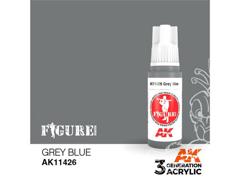 Ak interactive peinture acrylique 3G AK11426 BLEU GRIS 17ml FIGURINE
