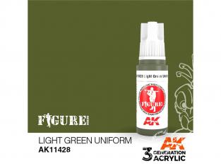 Ak interactive peinture acrylique 3G AK11428 UNIFORME VERT CLAIR 17ml FIGURINE