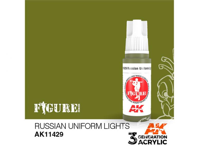 Ak interactive peinture acrylique 3G AK11429 UNIFORME RUSSE VERT CLAIR 17ml FIGURINE