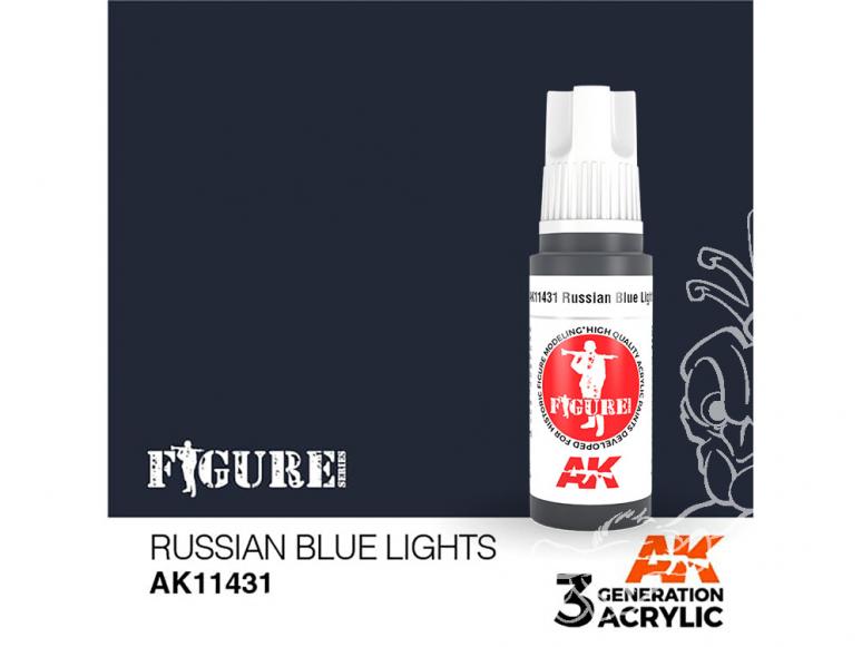 Ak interactive peinture acrylique 3G AK114231 BLEUE CLAIR RUSSE 17ml FIGURINE