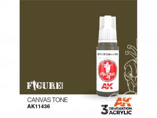 Ak interactive peinture acrylique 3G AK114236 TON TOILE 17ml FIGURINE