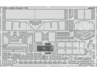 Eduard photodecoupe militaire 36461 Amélioration Pz.kpfw.IV Ausf.H Mini Art 1/35