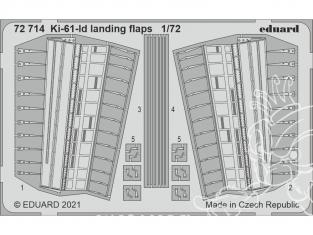 Eduard photodecoupe avion 72714 Volets d'atterrissage Ki-61-Id Tamiya 1/72