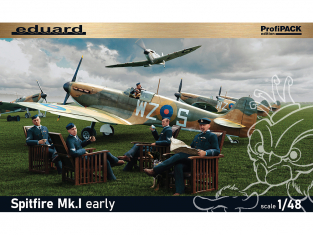 EDUARD maquette avion 82152 Spitfire Mk.I early ProfiPack Edition 1/48