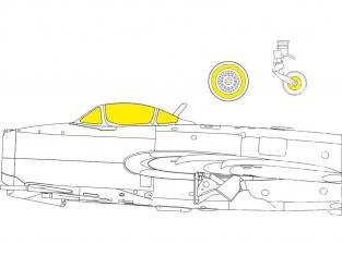 Eduard Express Mask EX762 MiG-15 Bronco / Hobby 2000 1/48
