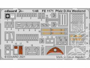 EDUARD photodecoupe avion FE1171 Zoom amélioration Pfalz D.IIIa WeekEnd Eduard 1/48