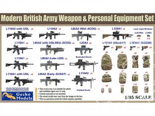 Gecko Models maquettes militaire 35GM0026 équipement de personnel et armes britannique moderne 1/35