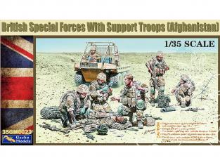 Gecko Models maquettes militaire 35GM0023 forces spéciales britanniques avec des troupes de soutien 1/35
