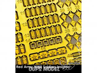 Rado miniatures figurines photodécoupe RDM35PE05 Insignes Armée rouge WWII 1/35