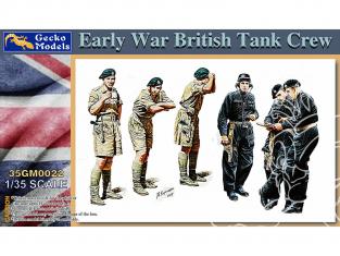 Gecko Models maquettes militaire 35GM0022 Equipage char britannique debut de guerre 1/35