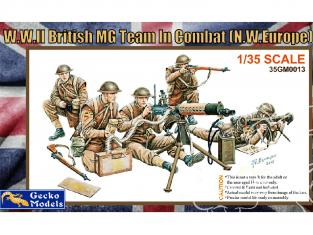 Gecko Models maquettes militaire 35GM0013 Team britannique MG au combat WWII 1/35