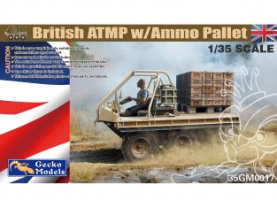 Gecko Models maquettes militaire 35GM0017 ATMP Britannique avec palette de munitions 1/35