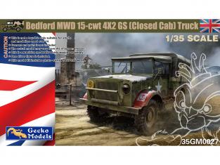 Gecko Models maquettes militaire 35GM0027 Bedford MWD 15-cwt 4x2 GS cabine fermée 1/35