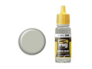 MIG peinture authentique 266 RLM63 Hellgrau - Gris clair 17ml
