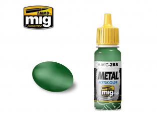 MIG peinture metal 268 Vert Aotake metallique 17ml