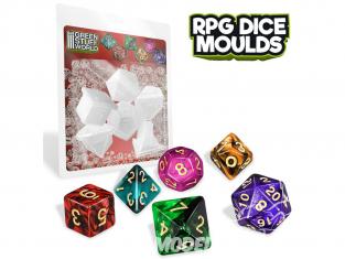 Green Stuff 508550 Moules de Dés RPG