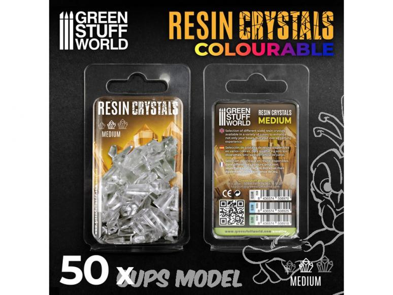 Green Stuff 508970 Cristaux de Résine CLAIRS - Moyen