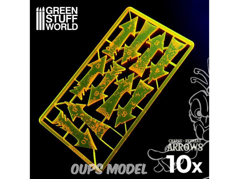 Green Stuff 500553 Flèches de Charge et Recul - Orange Fluo