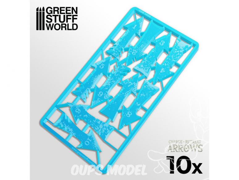 Green Stuff 500577 Flèches de Charge et Recul - Bleu Clair
