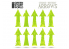 Green Stuff 500560 Flèches de Charge et Recul - Vert