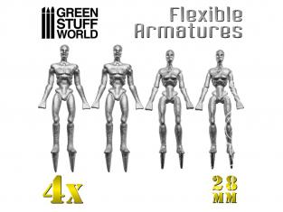Green Stuff 365562 Armatures de figurines 28 mm