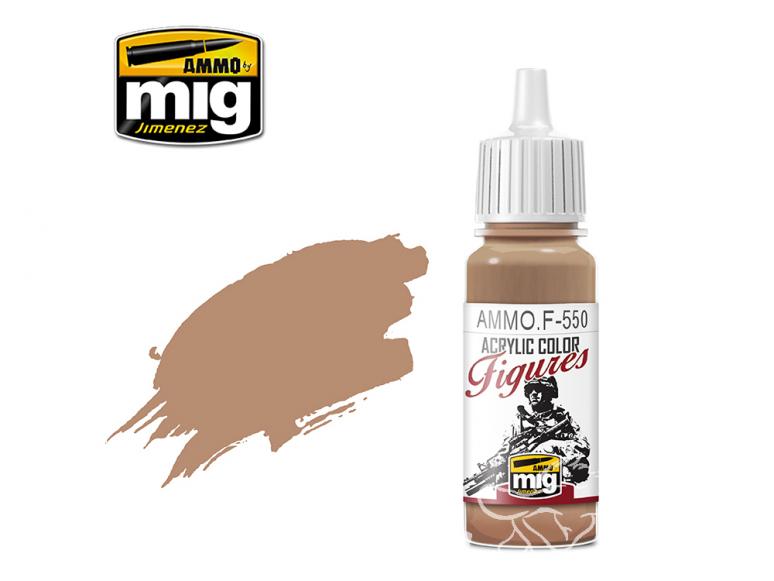 MIG peinture figurine F-550 Ton peau chaud 17ml