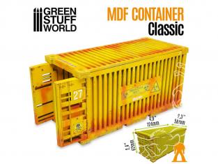 Green Stuff 508185 Conteneur d'Expédition Classique en bois MDF 1/35 et 1/48