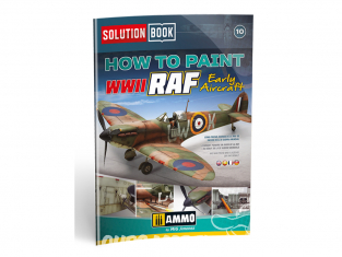 MIG Librairie 6522 Solution Book - Comment peindre WWII RAF Early Aicraft en Français (Multilangues)