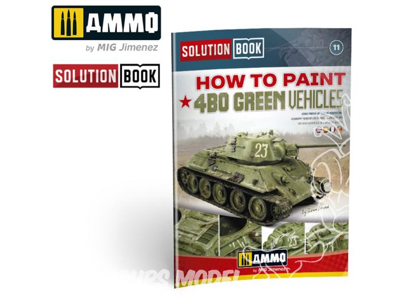 MIG Librairie 6600 Solution Book - Comment peindre véhicules verts 4BO en Français (Multilangues)
