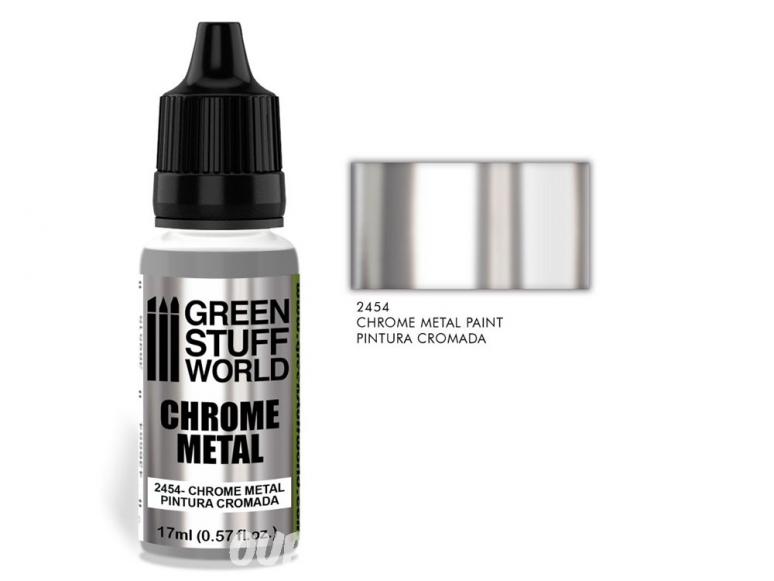 Green Stuff 2454 Peinture Chromée 17ml