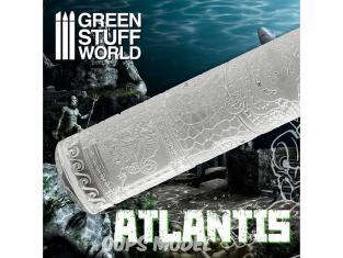 Green Stuff 508611 Rouleaux texturés Atlantide
