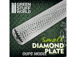 Green Stuff 508697 Rouleaux texturés Feuille Diamant Petit
