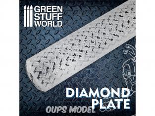 Green Stuff 508680 Rouleaux texturés Feuille Diamant