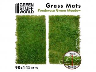 Green Stuff 508376 Découpe de Tapis d'Herbe Prairie Verte Ponderosa